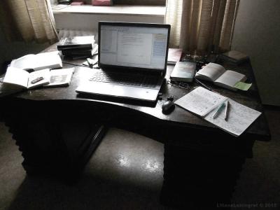 Auf dieser Schreibmaschine entstehen meine historischen Romane.